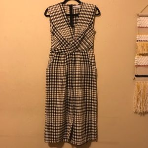 NEW Urban Outfitters Plaid Wide Leg Jumpsuit